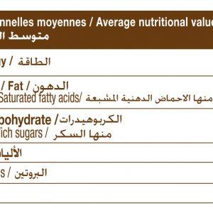 tableau nutritif sucre de dattes